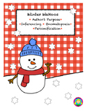 Winter language skills: personification,onomatopoeias, inf
