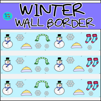 Winter Wall Border / Bulletin Board Display Border