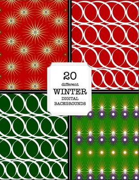 Winter Wallpaper, Holiday Digital Backgrounds, Christmas, and New Year's Papers