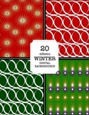 Winter Wallpaper, Holiday Digital Backgrounds, Christmas,