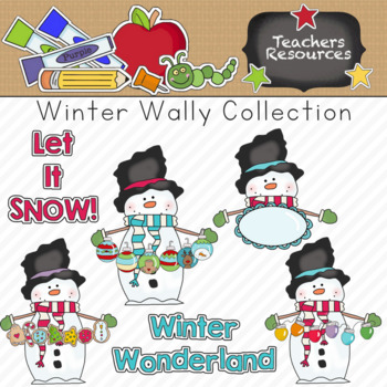 Winter Wally Clipart Collection    Commercial Use Allowed