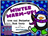 Winter Warm Up | Area & Perimeter Task Card Activity Pack