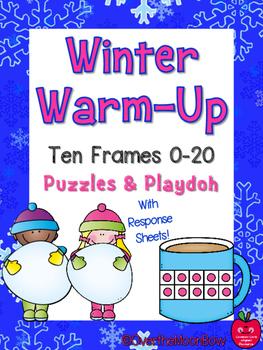 Winter Warm-Up Ten Frames Puzzles & Playdoh Math Centers