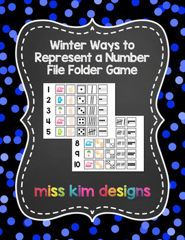 Winter Ways to Represent A Number File Folder Game