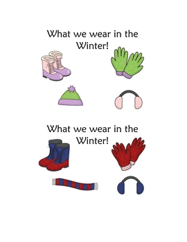 Winter Wear Predictable Reader and Sight Word Pack!
