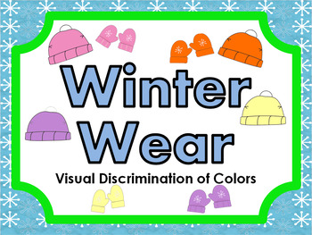 Winter Wear • Visual Discrimination of Colors • File Folder Game