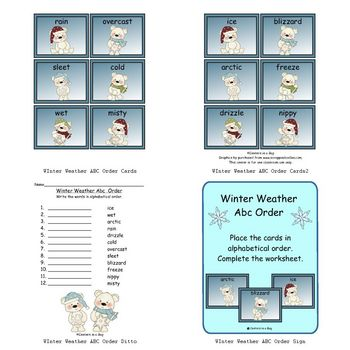 Winter Weather Abc Order