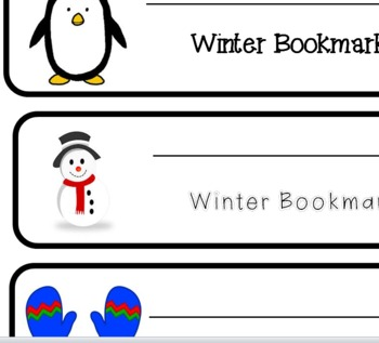 Winter Weather Bookmarks