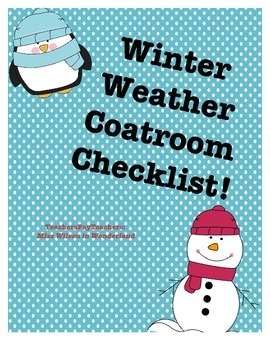 Winter Weather - Coatroom Checklist