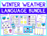Winter Weather Language Bundle with Adapted Books