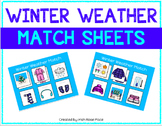 Winter Weather Match Sheets