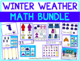 Winter Weather Math Bundle with Adapted Books