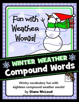 Winter Weather Words Compound Word Activity + BONUS!