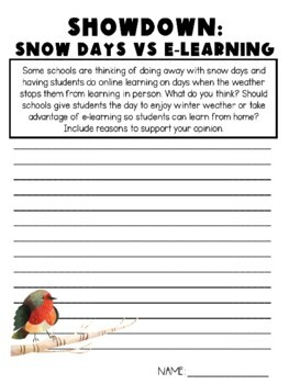Winter Weather Writing