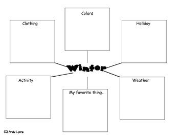Winter Web Graphic Organizer