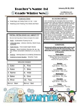 Winter Weekly Newsletter