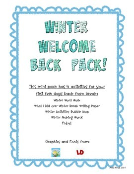 Winter Welcome Back Mini Pack