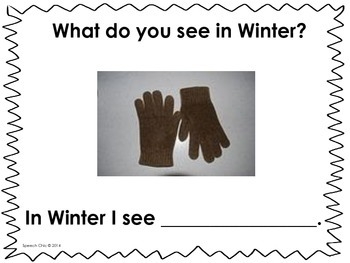 Winter, What Do You See? A Vocabulary and Sentence Completion Book