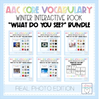 "Winter ""What Do You See?""Adaptive Interactive Books for Autism - Real Photos"