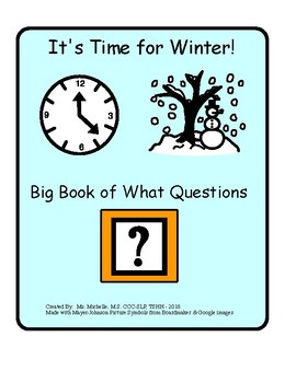 """Winter """"What"""" Questions"""