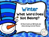 Winter Which Word Does Not Belong Task Cards for Determining Main Idea