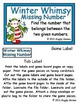 Winter Whimsy Missing Number File Folder Game