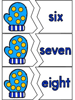 Winter Whimsy Number Sense Puzzles Math Centers