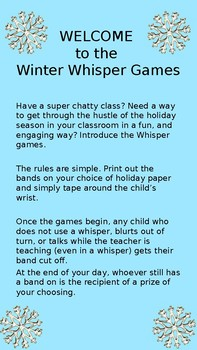 Winter Whisper Games