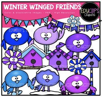 Winter Winged Friends Clip Art Bundle {Educlips Clipart}