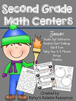 Winter Winners! Common Core Aligned Math Centers!