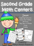 Second Grade Common Core Aligned Math Centers - January