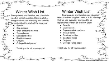 Winter Wish List