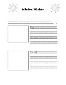 Winter Wish Writing Template 2