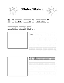 Winter Wish Writing Template 1