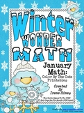 Winter Wonder Math ~ January Math Printables Color By The Code Puzzles