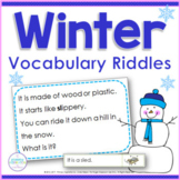 Winter Vocabulary Activities | Inference and Drawing Conclusions Riddles