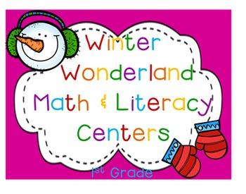 Winter Wonderland 1st Grade Math & ELA Pack (25 CCSS Centers)