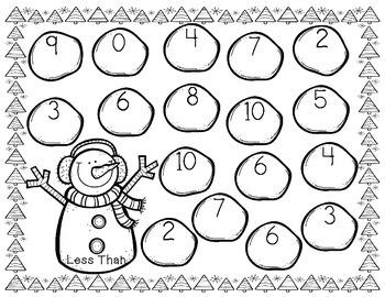 Winter Wonderland          3 Number Comparison Activities