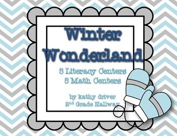 Winter Wonderland {5 Literacy Centers 5 Math Centers}