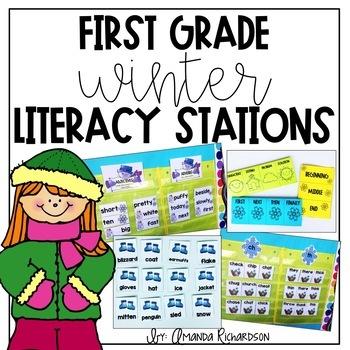 First Grade Winter Literacy Stations