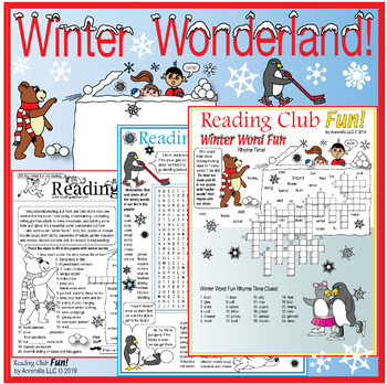 Winter Wonderland (Activities, Penguins, and Festivals) Two-Page Activity Set