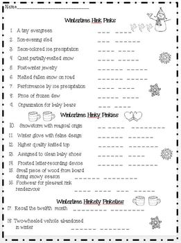 Winter Wonderland Activities for Early Finishers