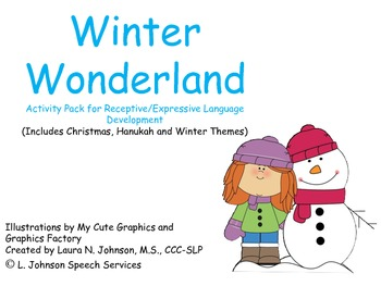 Winter Wonderland Activity Pack for Receptive/Expressive L