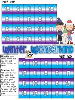 Winter Wonderland Adding Three Numbers