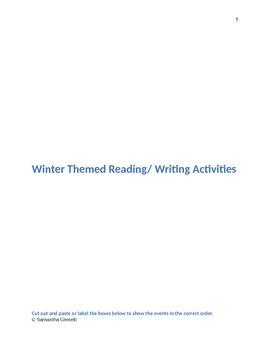 Winter Wonderland Math and Literacy Activities