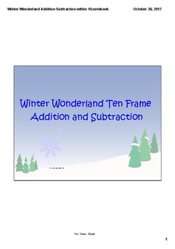 Winter Wonderland Addition and Subtraction Within Ten