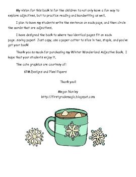 Winter Wonderland Adjective Book
