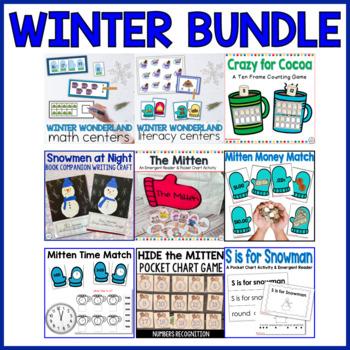 Winter Wonderland All Bundled Up Math and Literacy Centers