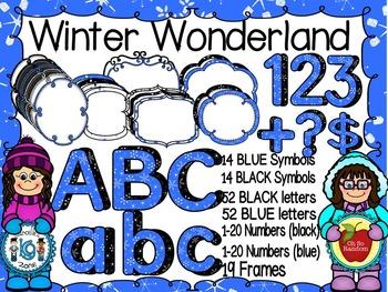 Winter Wonderland - Alphabets, Letters, Frames, Symbols Cl