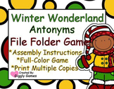 Winter Wonderland Antonyms File Folder Game